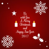 Merry Christmas and Happy new year 2017 Greeting Card,  il. Lustration Stock Photos