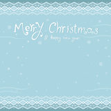 Merry christmas and a happy new year. greeting card. inscription Royalty Free Stock Photo