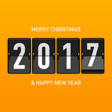 Merry Christmas and Happy New Year 2017 greeting card Stock Photography