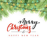 Merry Christmas and Happy New Year. Stock Image