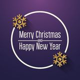 Merry Christmas and Happy New Year Greeting Card. Quote. Vector stock images