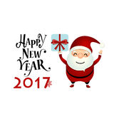 Merry Christmas and Happy new year 2017 Greeting Card with Santa Royalty Free Stock Images