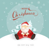 Merry Christmas and Happy New Year greeting card Stock Image