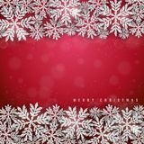 Christmas silver glittering snowflakes background Royalty Free Stock Photo