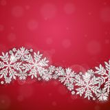 Christmas silver glittering snowflakes background Royalty Free Stock Photography