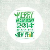 Merry Christmas and happy new year greeting card. Typographic design Stock Images