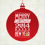 Merry Christmas and happy new year greeting card. Typographic design Royalty Free Stock Photography