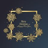 Merry Christmas and Happy New Year 2018 greeting card, vector illustration Royalty Free Stock Images