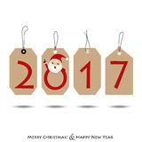 Merry Christmas and Happy new year 2017 Greeting Card, vector il. Lustration Stock Illustration