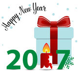 Merry Christmas and Happy new year 2017 Greeting Card, vector il. Lustration vector illustration