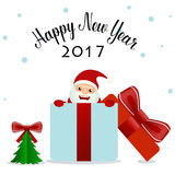 Merry Christmas and Happy new year 2017 Greeting Card, vector il Stock Images