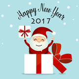 Merry Christmas and Happy new year 2017 Greeting Card, vector il. Lustration Stock Photo