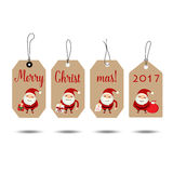 Merry Christmas and Happy new year 2017 Greeting Card, vector il. Lustration Stock Photography