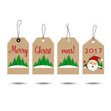 Merry Christmas and Happy new year 2017 Greeting Card, vector il. Lustration Royalty Free Stock Photo