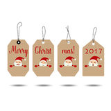 Merry Christmas and Happy new year 2017 Greeting Card, vector il. Lustration Royalty Free Stock Photos