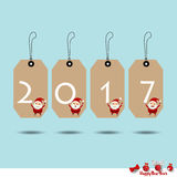 Merry Christmas and Happy new year 2017 Greeting Card, vector il. Lustration Stock Images