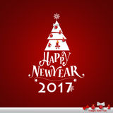 Merry Christmas and Happy new year 2017 Greeting Card, vector il. Lustration Stock Photos