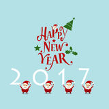 Merry Christmas and Happy new year 2017 Greeting Card, vector il Stock Photos