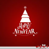 Merry Christmas and Happy new year Greeting Card, vector illustr. Ation Royalty Free Stock Photography