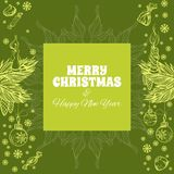 Merry Christmas and Happy New Year greeting card. Merry Christmas and Happy New Year. Vector illustration for greeting cards, posters and other items Stock Image