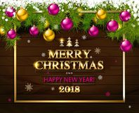 With Christmas and new year Royalty Free Stock Photos