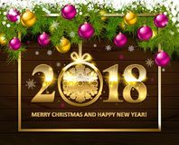 With Christmas and new year Royalty Free Stock Image