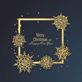 Merry Christmas and Happy New Year 2018 greeting card, vector illustration Royalty Free Stock Photography