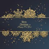 Merry Christmas and Happy New Year 2018 greeting card, vector illustration Royalty Free Stock Photos