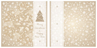Merry Christmas & Happy New Year greeting card. Vector snowflake background. Merry Christmas & Happy New Year greeting card. Brown and white vector snowflake Royalty Free Stock Photos