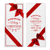 Merry Christmas and Happy New Year greeting card. Stock Photo