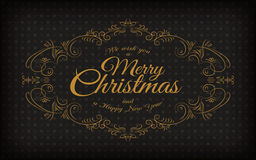 Merry Christmas and a happy new year greeting frame. Merry Christmas and a happy new year greeting vintage frame Royalty Free Stock Photo