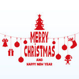 Merry Christmas and Happy New Year. Greetings Merry Christmas and Happy New Year Royalty Free Stock Photography