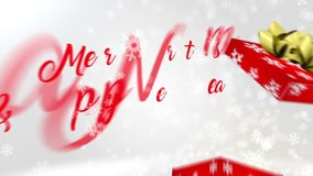 Merry Christmas & Happy New Year greetings animation