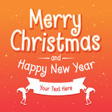 Merry Christmas And Happy New Year Greetings Background Royalty Free Stock Photos