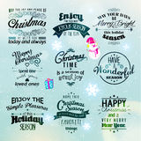 Merry Christmas and Happy New Year 2015 Greetings. Merry Christmas and Happy New Year 2015 Season Greetings Quote Vector Design Stock Photos