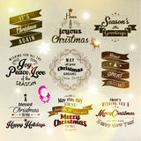 Merry Christmas and Happy New Year 2015 Greetings. Merry Christmas and Happy New Year 2015 Season Greetings Quote Vector Design Stock Photography