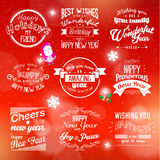 Merry Christmas and Happy New Year 2015 Greetings. Merry Christmas and Happy New Year 2015 Season Greetings Quote Vector Design Stock Images