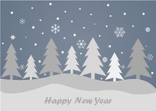 Merry Christmas and Happy New Year on a grey background. Merry Christmas and Happy New Year 2018 on a grey background Stock Photo