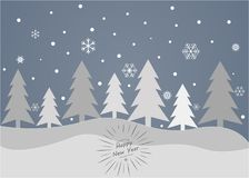 Merry Christmas and Happy New Year on a grey background. Merry Christmas and Happy New Year 2018 on a grey background Royalty Free Stock Photos