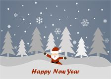 Merry Christmas and Happy New Year on a grey background. Merry Christmas and Happy New Year 2018 on a grey background Stock Image