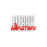 Merry christmas and happy new year 2017, hand drawn Dotwork . Handmade vector calligraphy for your design Royalty Free Stock Photos