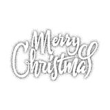 Merry christmas and happy new year 2017, hand drawn Dotwork . Handmade vector calligraphy for your design Stock Images