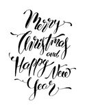 Merry Christmas and Happy New Year Hand Lettering Card. Vector Christmas. Calligraphy vector illustration