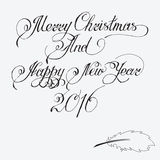 Merry christmas and Happy New Year 2016. Stock Photos