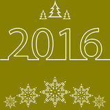Merry Christmas and Happy New Year for 2016 Royalty Free Stock Photo
