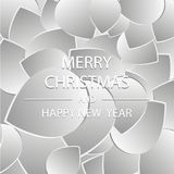 Merry Christmas and Happy New Year 2018, a holiday background with drops. Vector. Christmas card. Royalty Free Stock Images