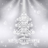 Merry christmas happy new year holiday background Stock Photo