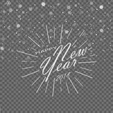 Merry Christmas and Happy New Year holiday celebration. Winter is coming. Gray background. Vector illustration. Merry Christmas and Happy New Year holiday Stock Images
