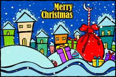 Merry Christmas and Happy New Year Holiday greetings background Stock Image