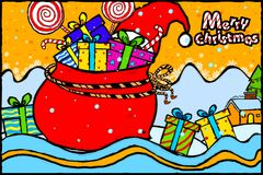 Merry Christmas and Happy New Year Holiday greetings background Stock Images